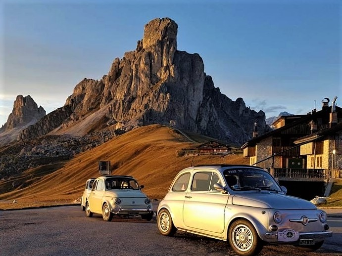 Fiat 500 gathering Cortina d'Ampezzo - Dolomites